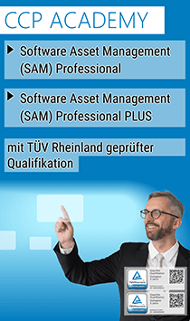 Mit CCP zum Software Asset Management (SAM) Professional und Software Asset Management (SAM) Professional Plus mit TÜV Rheinland geprüfter Qualifikation