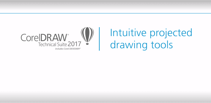 Intuitive projected drawing tools in CorelDRAW Technical Suite