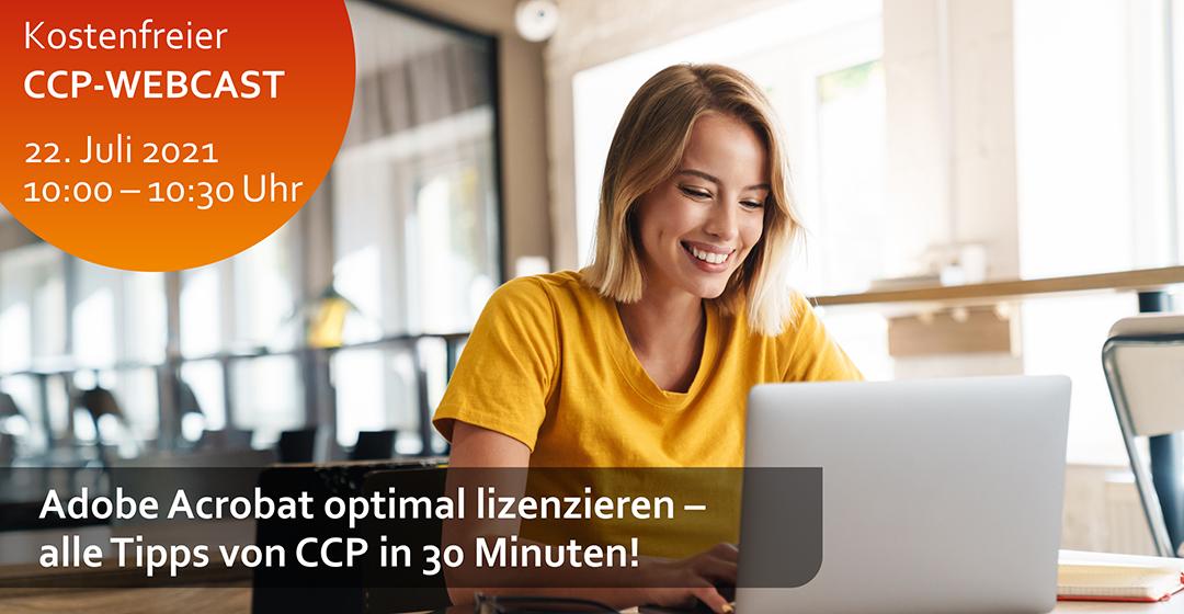 CCP-Webcast | Adobe Acrobat optimal lizenzieren – alle Tipps von CCP in 30 Minuten!